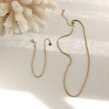 Amaiyllis 14k золото твист starlight lins цепочка ожерелье ключица