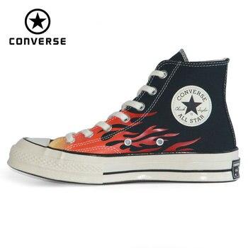 2020 Orijinal Yeni CONVERSE 1970S Chuck Taylor All Yıldız Alev Kırmızı Adam Ve Kadın Sneakers Yüksek Kaykay Ayakkabı 165024C