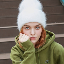 Winter Hats Beanies Hair Rabbit-Fur ENJOYFUR Women Caps Warm Female Solid-Colors Fashion