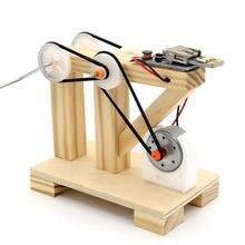DIY Dynamo Generator Model drewniany eksperyment naukowy zabawki dla dzieci nauka fizyki zestawy edukacyjne projekty szkolne STEM