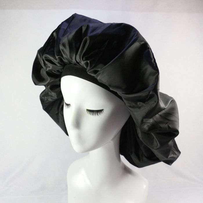 1pc Big Salon Cap Satin Bonnet Cap Sleep Night Cap Hair Cover Hat For Curly Springy Styling Accessories