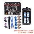 BIGTREETECH BTT SKR V1.4 Turbo 3D impresora de 32 Bit SKR V1.4 TFT35 V3.0 pantalla táctil actualización SKR V1.3 TMC2208 UART TMC2209 MKS