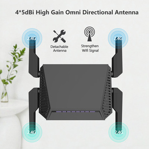 Image 1 - WE3826 Omni השני הקושחה אלחוטי WiFi נתב עבור USB 3G 4G מודם omni 2 4 אנטנות 300Mbps 4 Anttenas אנגלית הקושחה
