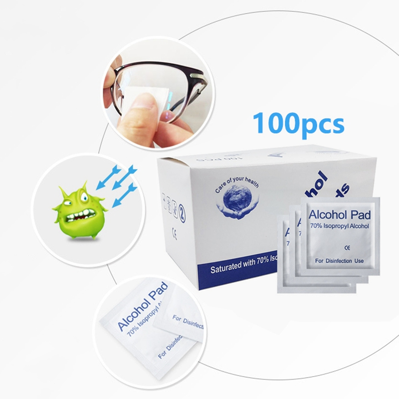 30/100pcs Glass Cleaning Cloth Wet Paper Alcohol Pad Lens Cleaner Tissue Wipe Polishing Sunglasses Reading Glasses Dropshipping