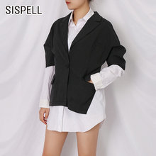 Женский лоскутный Блейзер sispell рубашка с отложным воротником