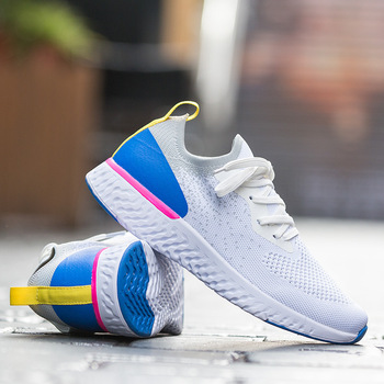 2019 New Style Large Size WOMEN'S Shoes Lightweight Sports Flying Woven Shoes Women's Fitness Running Shoes Casual Slip-on WOMEN 1