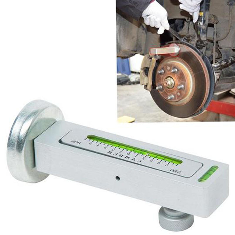 Car Wheel Aligner Four-wheel Positioning Magnetic Level Gauge Adjustable Magnetic Bending Caster Support Wheel Locator Tool
