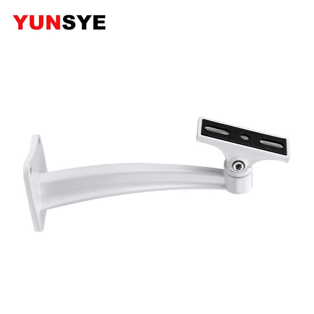 YUNSYE CCTV Camera Mounting Bracket Aluminum Video Surveillance Wall Mount Bracket Camera Side Mount Bracket Wall Mount Bracket