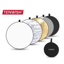Tenwish 24 polegadas/60cm 5in1 multi disco fotografia estúdio foto luz dobrável refletor portátil disco da foto com saco de transporte