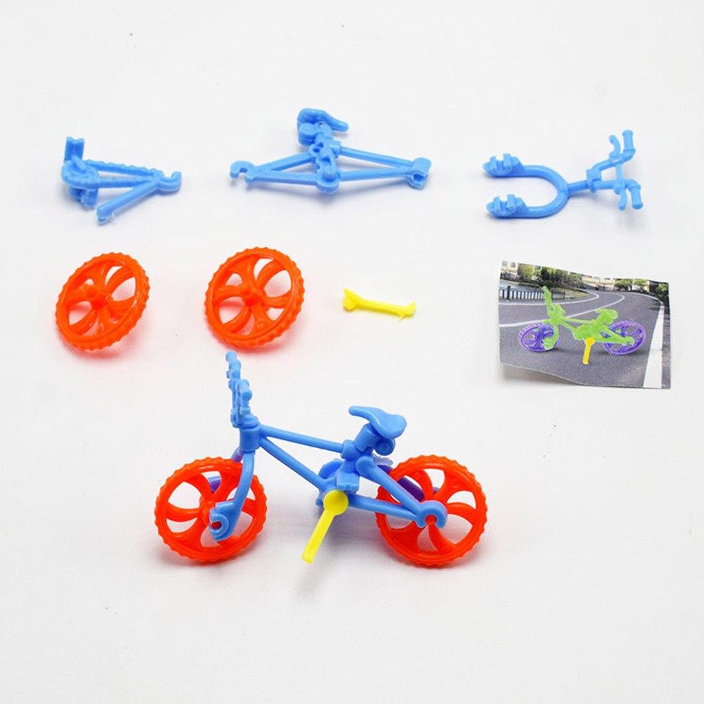 1 шт цветные случайные DIY велосипеды мини-игрушки для детей подарок для детей