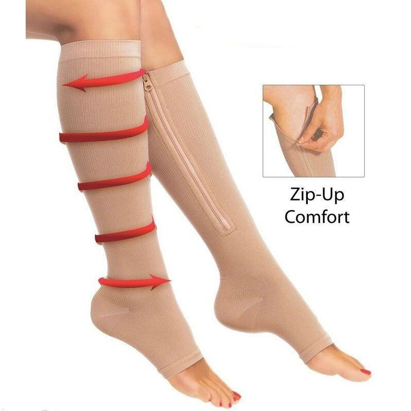Zip Sox Socks Sports Pressure Socks Compression Zipper Socks