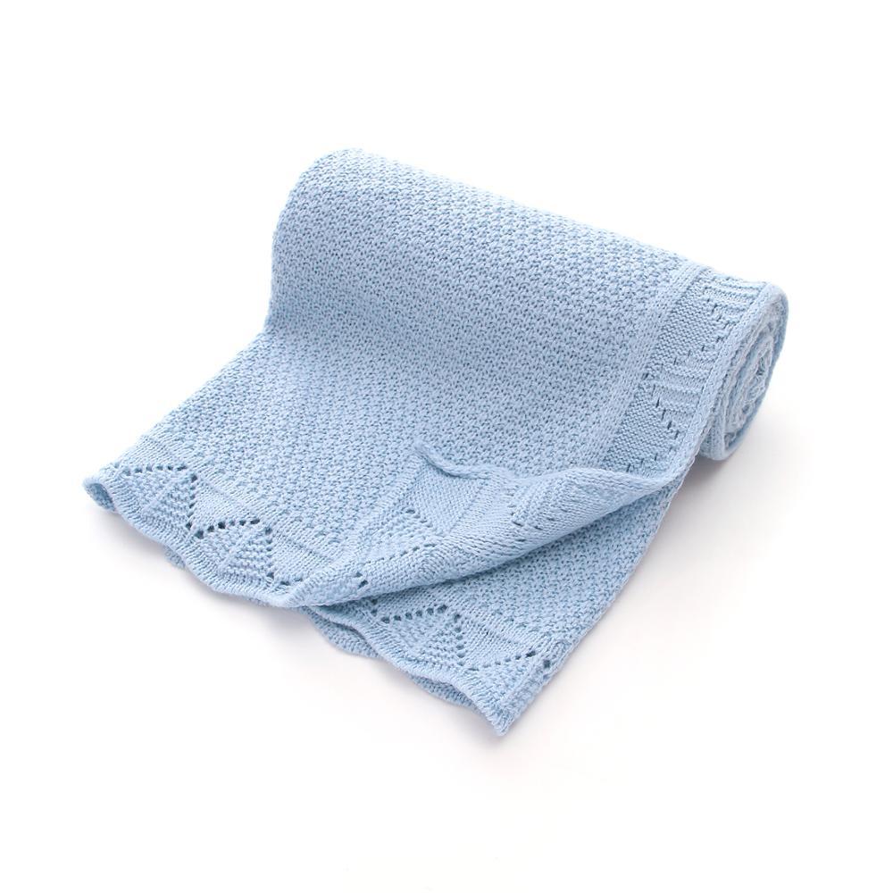Baby Blankets Newborn Swaddle Blanket Fashion Solid Knitted Toddler Stroller Bedding Sofa Quilt 100*80cm Infant Kids Sleep Cover