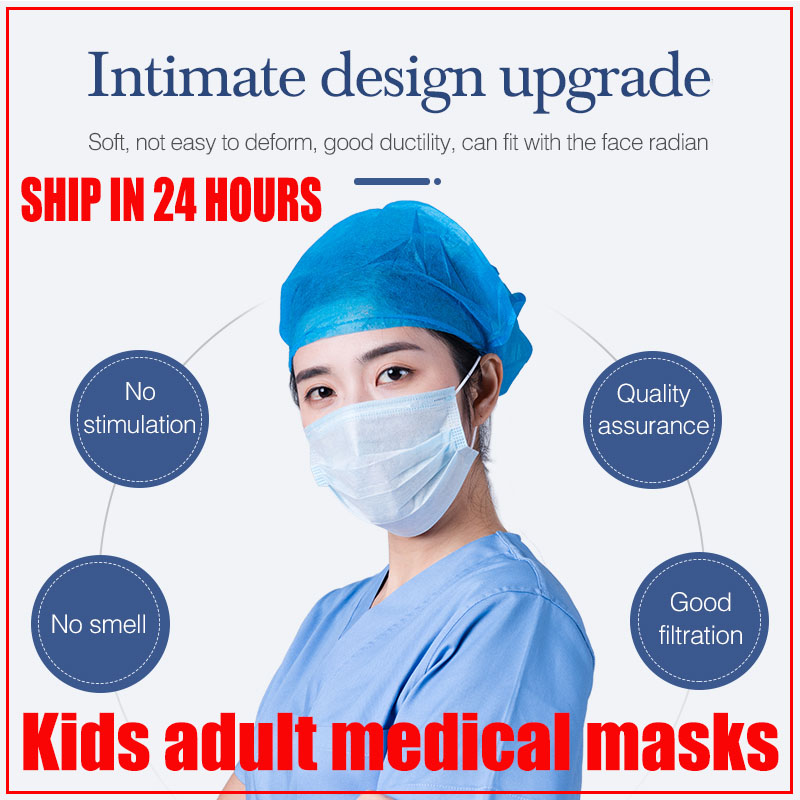 10pcs Children's Dustproof Disposable Medical Face Masks Kids Protective Mascaras Infantiles Tapabocas Riutilizzabili Bocas Ffp3