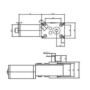 Image 5 - Thiên Động Cơ DC Turbo Con Sâu Giảm Xe Máy Điều Khiển Từ Xa Màn Cửa Hủy Giấy Sao Chép Các Máy