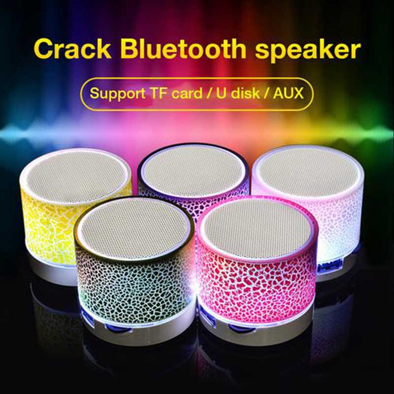 Bluetooth inalámbrico luz colorida pequeña grieta sonido altavoz Audio teléfono móvil Mini Subwoofer soporte tarjeta TF/U disco/AUX