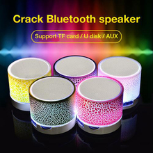 Wireless Bluetooth Colorful Light Small Crack Sound Speaker Audio Mobile Phone Mini Subwoofer Support TF Card U Disk AUX cheap Rondaful Portable Battery Plastic Full-Range None Other