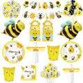 Пчелиный латексный шар, арочная гирлянда, товары для темативечерние НКИ «сделай сам», детские украшения на день рождения, одноразовая посуд...