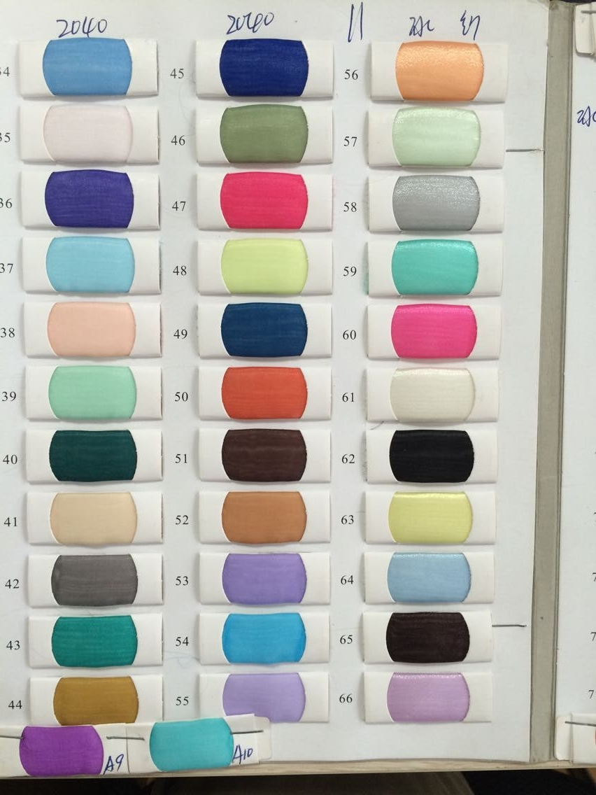 Just One Piece Of Organza Fabrics ( Please Tell Me Color Number .we Will Just Sent One Piece Of The Color You Like (3-5 Cm))