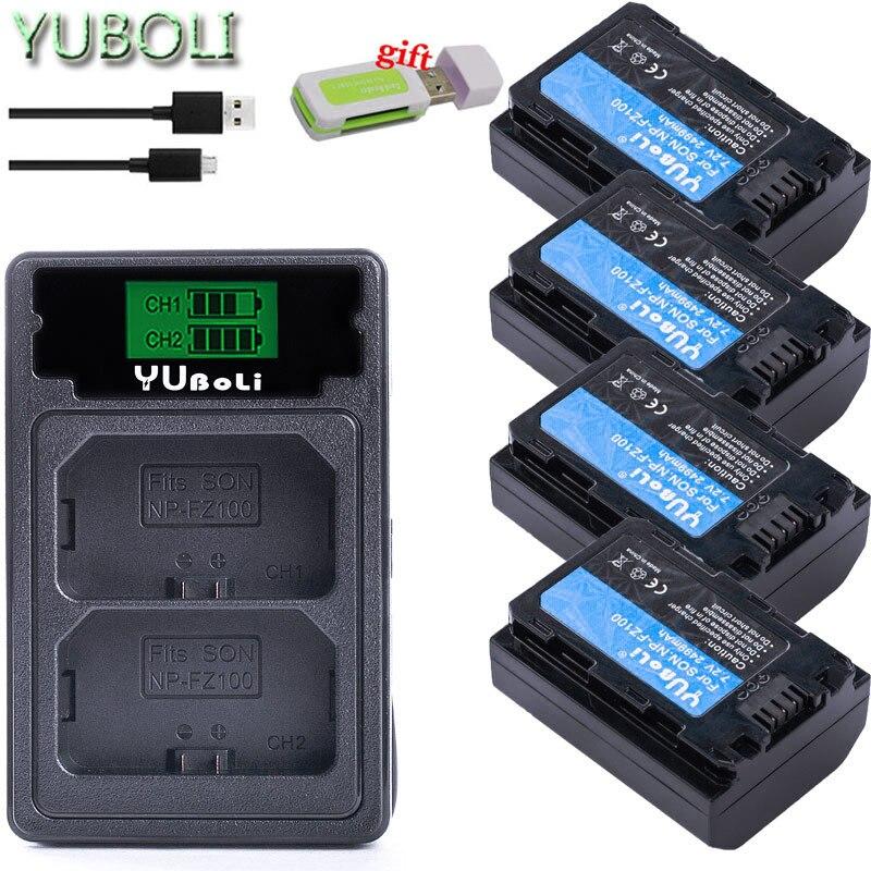 2499mah NP-FZ100 NPFZ100 NP FZ100 Battery + LED Dual USB Charger For Sony NP-FZ100, BC-QZ1, Sony A9, A7R III, A7 III, ILCE-9