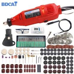 BDCAT 220V elektronarzędzia elektryczne Dremel Mini wiertarka z 0.3 3.2mm uniwersalny uchwyt wiertarski i zestaw narzędzi obrotowych zestaw do narzędzia Dremel w Wiertarki elektryczne od Narzędzia na
