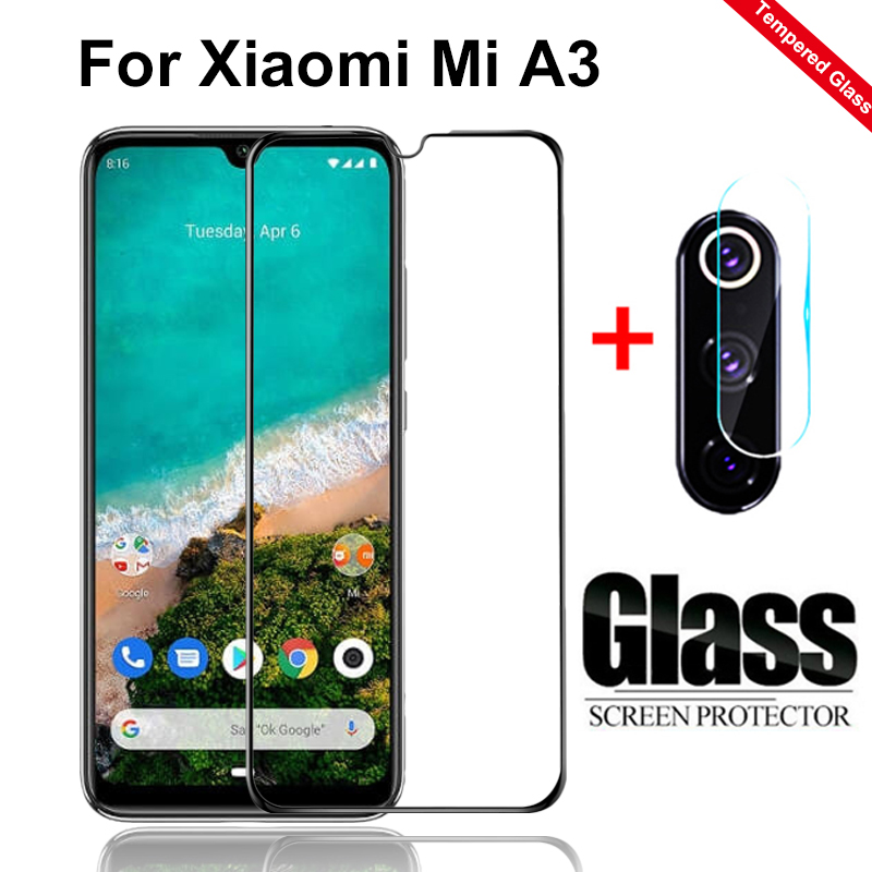 2Pcs Protective Glass On For Xiaomi Mi A3 Camera Glass Protector For Xiomi Xaomi My 9T MiA3 9 Lite Armor Front Protective Films