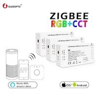 4Pcs GLEDOPTO ZIGBEE 3 0 RGB + CCT LED Smart Home Controller LED Streifen Fernbedienung Swtich Dimmer Arbeit mit amazon ECHO Plus
