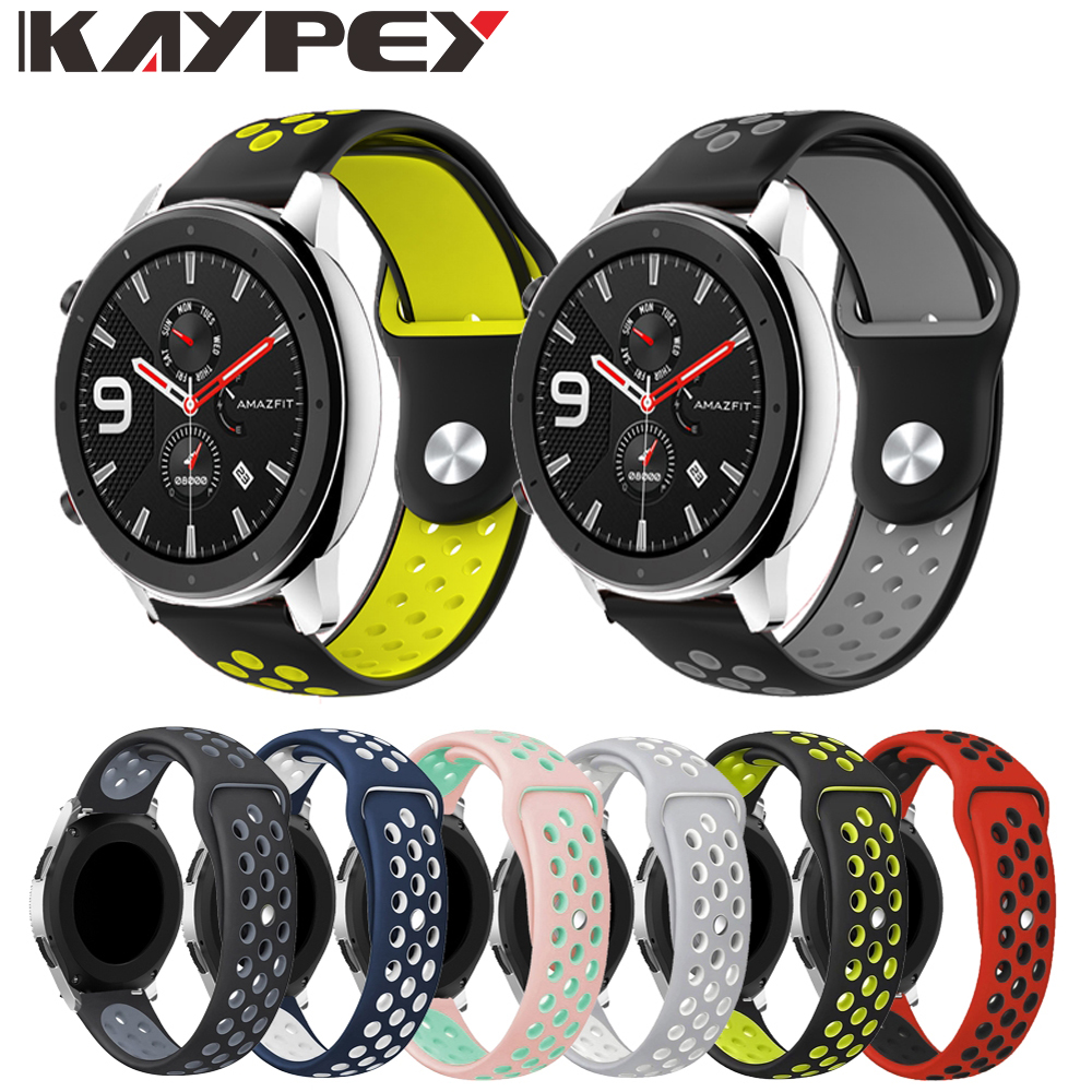 Double Color Silicone Wrist Strap For Xiaomi Huami Amazfit GTR 42MM 47mm Smart Watch Band For Xiaomi Amazfit Gtr Bracelet Bands