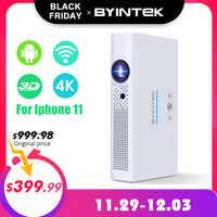 BYINTEK marca OVNI R19 300 pulgadas 3D Smart Android WIFI Video LED portátil Mini proyector HD DLP completa HD 1080P HD 4K HDMI Iphone 11