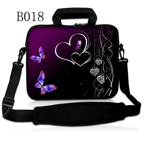 Coeurs & papillon 10 12 13 15 sac à bandoulière pour ordinateur portable 15.6 housse pour tablette pour macbook pro/air/surface pro 3/sony vaio/hp