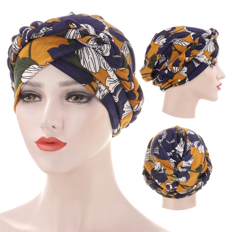 2020 новый принт мусульманский Тюрбан Хиджаб для женщин богемная шляпа Арабский обруч головы внутренние хиджабы капот Femme Musulman Turbante Mujer