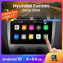 Автомагнитола AWESAFE PX9 для Hyundai Tucson, мультимедийная стерео-система на Android 10, с GPS, видеоплеером, DVD, для Hyundai Tucson 2004, 2005, 2006, 2010, типоразмер 2 din