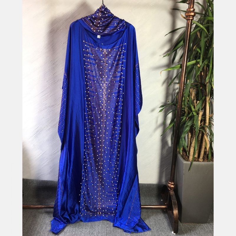 African Dresses For Women 2019 Beading Africa Clothing Muslim Long Dress High Quality Length Fashion African Dress For Lady