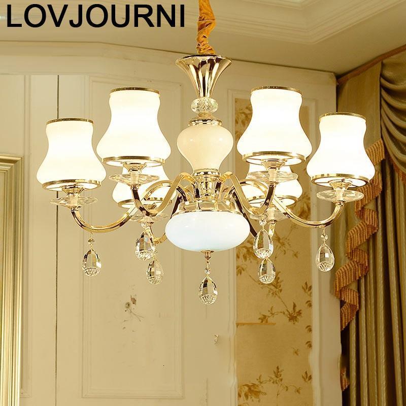 Moderni Chandelier Lustre E Pendente Para Sala De Jantar Suspendu Crystal Light Suspension Luminaire Luminaria Hanglamp