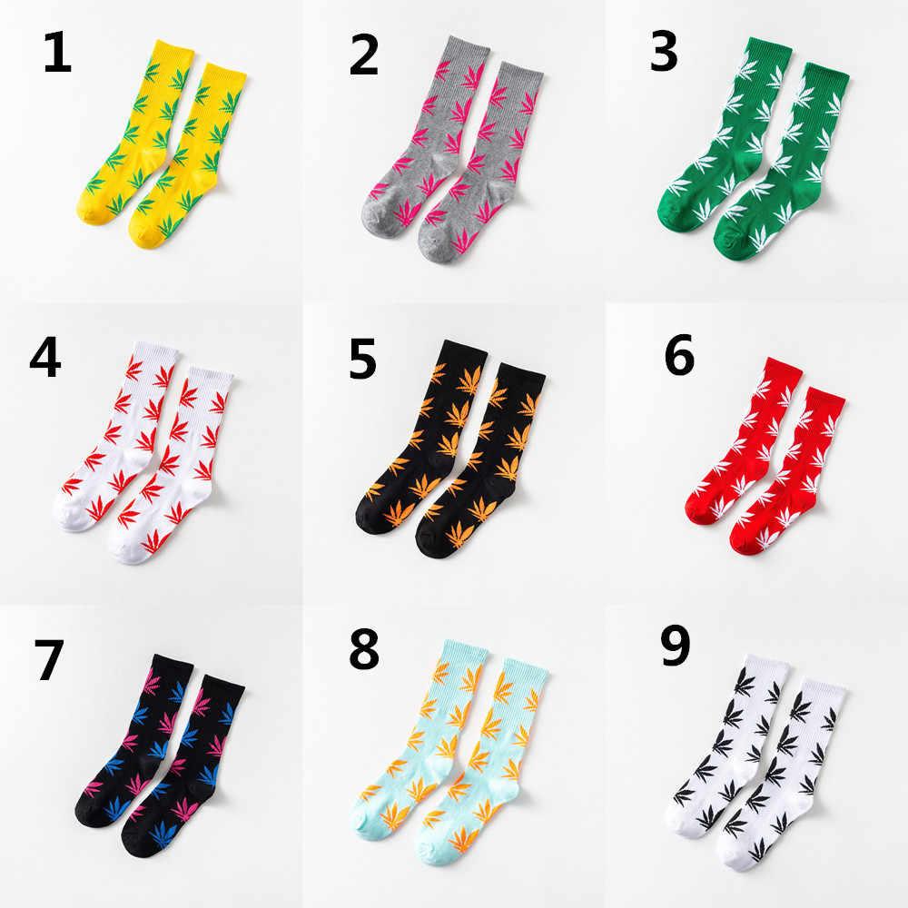 Unisex Männer Frauen Socken Baumwolle Glücklich Lustig Hanf Blatt Ahorn Druck Socken Harajuku Casual Street Style Unkraut Komfortable Mid- rohr Sox