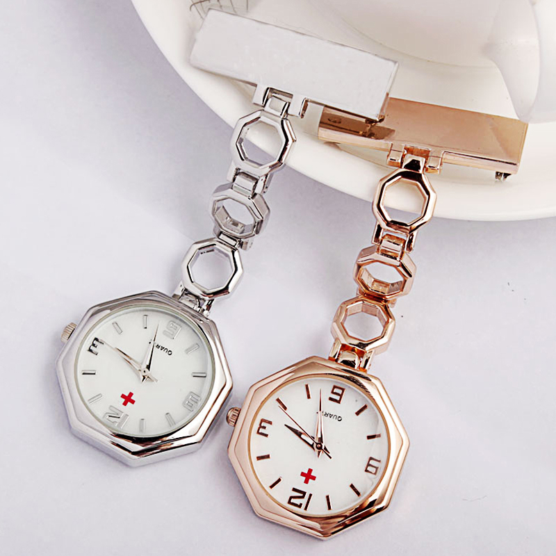 Medical Doctors' Gift Fob Nurse Watch Stainless Steel Portable Brooch Pin Clip-on Women Pocket Watch Paramedic Zuster Horloge