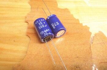 цена на 50pcs/lot Original JAPAN NIPPON LXY series 105C high frequency capacitor aluminum electrolytic capacitor free shipping