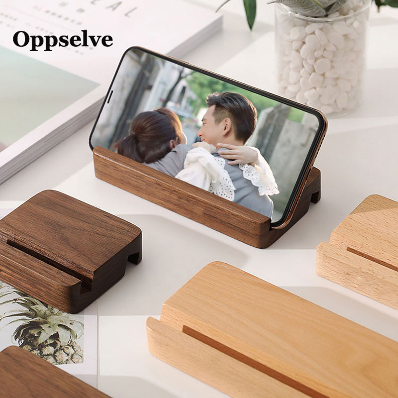 Universal Wooden Phone Holder For IPhone 11 Pro Max X XS Mobile Phone Bracket For Samsung S10 9 Tablet Stand Desk Phone Support