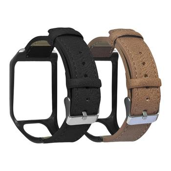 For TomTom 2/3 SPARK Series Runner 2 3 Series Golfer 2 Series Adventurer GPS Watch Leather Replacement Strap image