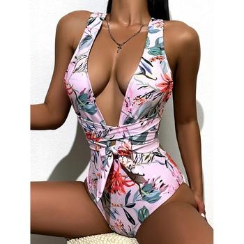 One Piece Swimsuit Women Sexy Swimwear Female Bathing Suit Women's Bandage Beachwear Swim Wear Bodysuit Monokini Swimsuits 3