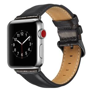 Image 3 - Genuine leather strap for apple watch band 42mm 44mm for apple watch 4/5 38mm 40mm correa replacement bracelet for iwatch 3/2/1