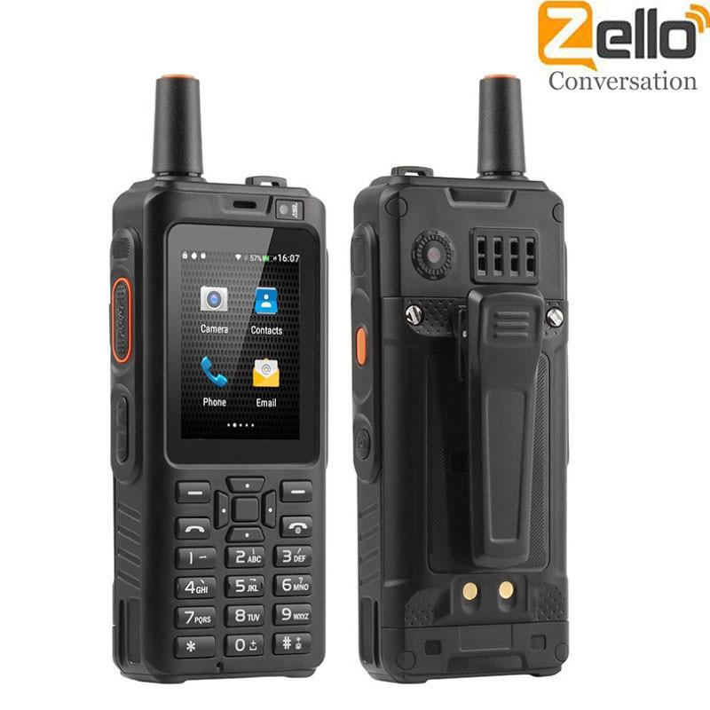 F40 Zello PTT Walkie Talkie Phone Network Radio Wifi Radio Android 6.0 Bluetooth GPS IP56 Waterproof Dual Card Smartphone