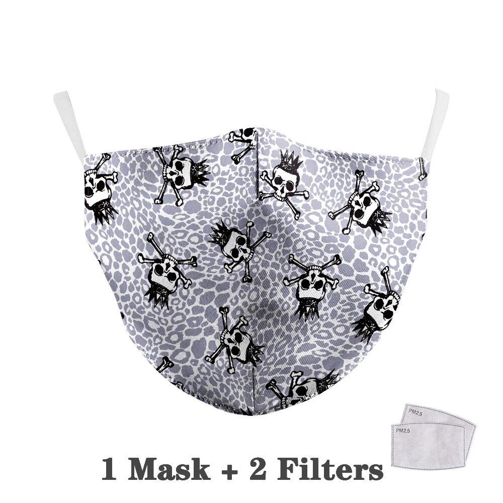Washable Big Mouth Skull Face Masks 27