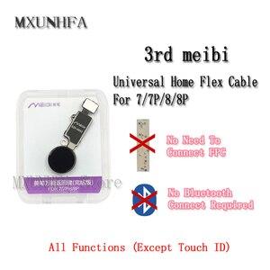 Image 2 - 10pcs/lot 3rd 6th YF JC Universal Home Button Flex Cable for iPhone 7 8 Plus Menu Keypad Return Function Solution Replacement