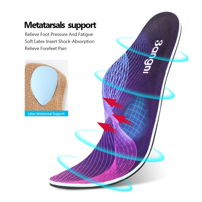 3ANGNI Orthopedic Insoles For Flat Feet Women Men Plantar Fasciitis Insoles For Shoes Orthotic Arch Support Soles Shoe Pad