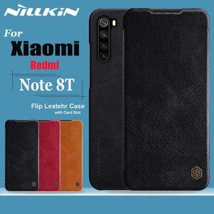 Image 1 - Чехол Nillkin для Xiaomi Redmi Note 8T, мягкий бумажник из натуральной кожи, задняя крышка для смартфона, откидной Чехол для Redmi Note 8T, чехлы