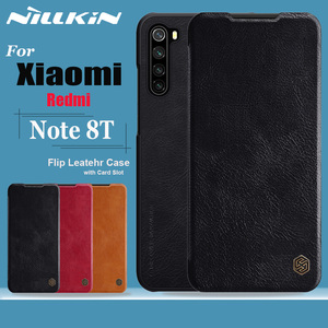 Image 1 - Nillkin for Xiaomi Redmi Note 8T Case Capa Soft Genuine Leather Wallet Smart Phone Back Cover Flip Case on Redmi Note 8T Cases