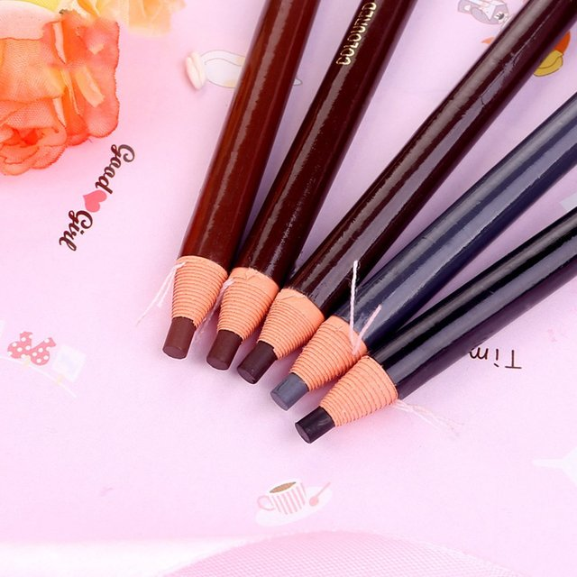 5 colors Eyebrow Pencil With Tearing Thread Long-lasting Natural Brow Pencil Cosmetics Brow Eye Liner Make Up Tool 5