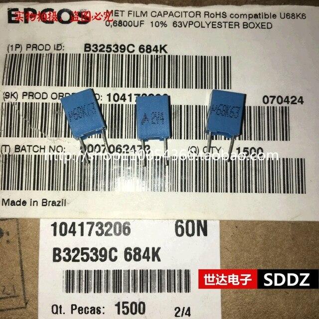 20 Chiếc Mới Epcos B32529C684K 680NF 63V PCM5 B32529 684/63V 0.68 UF/63 V P5mm 680NF 63VDC 63V680NF U68K63