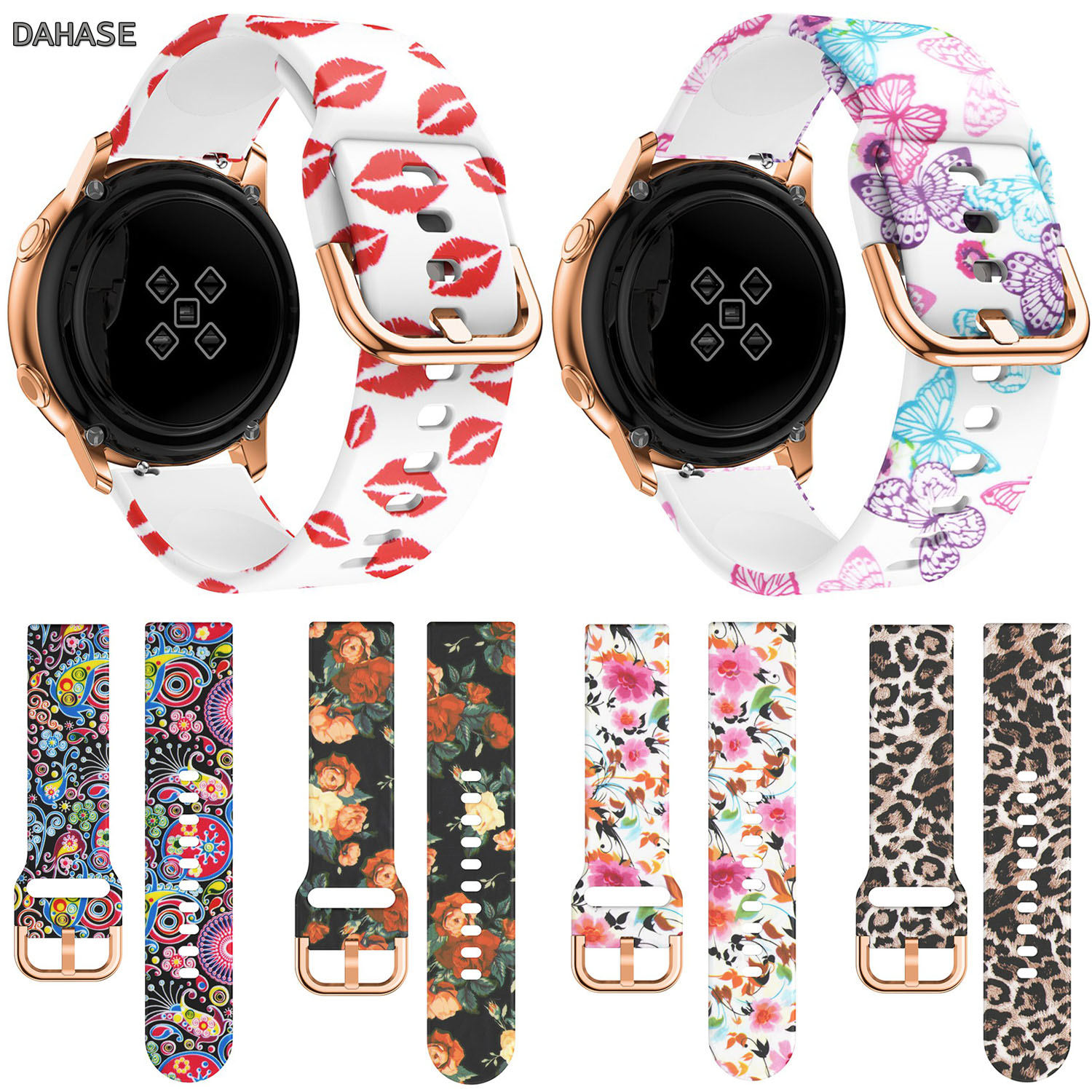 20mm Watch Band For Samsung Galaxy Watch Active Band Galaxy Watch 42mm Strap S2 Gear Sport Silicone Wristband Watch Strap Belt