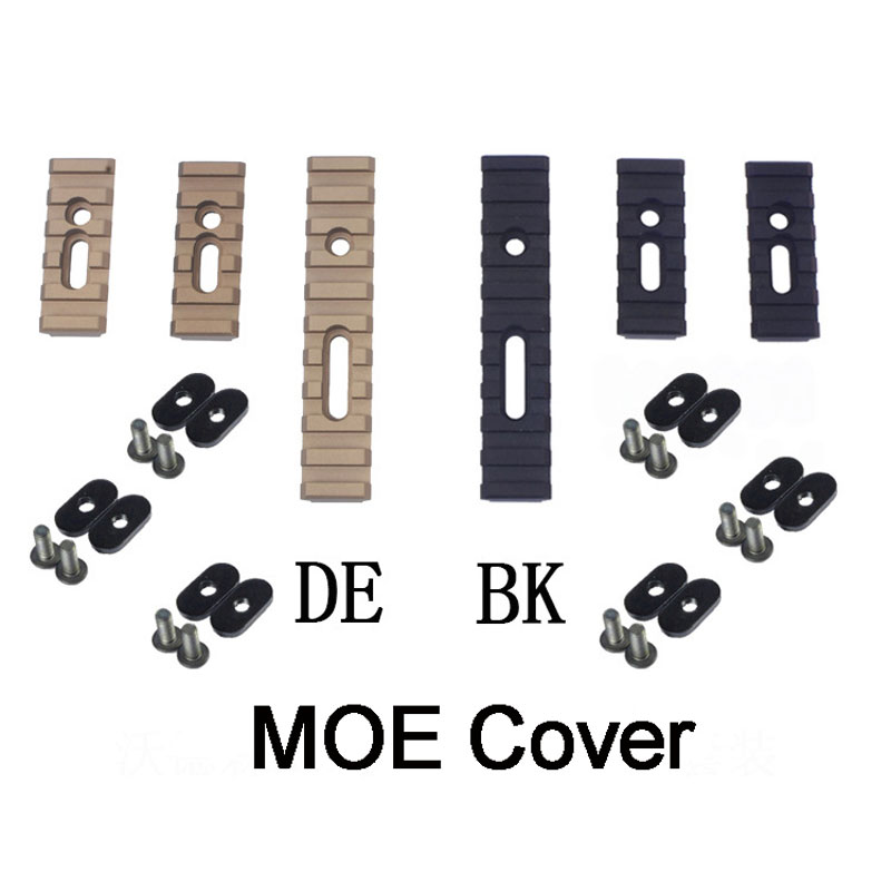 3PCS /SET Tactical MOE Keymod Picatinny Rail Mount Set For Airsoft Air Gun <font><b>Handguard</b></font> <font><b>AR</b></font> <font><b>15</b></font> Rifle Accessory image